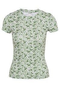 Monki - MAGDALENA TEE 2 PACK - T-shirts med print - green medium/white solid - 2