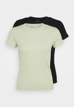 MAGDALENA TEE 2 PACK - T-shirts med print - green dusty light/black
