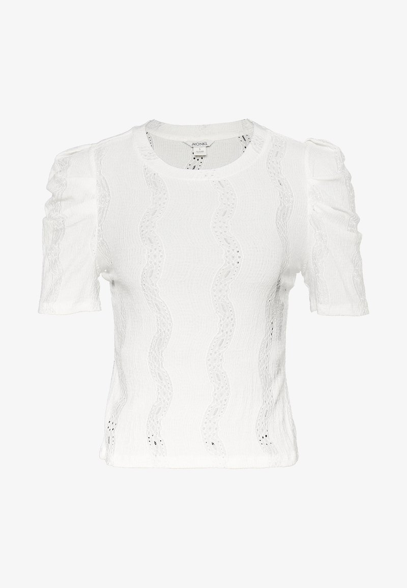 Monki - VIVI TOP - T-shirt basique - white