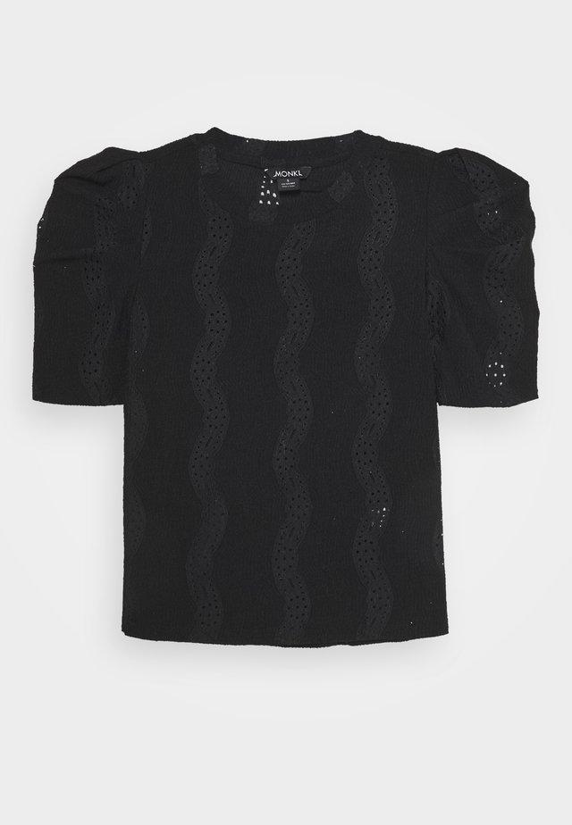 VIVI TOP - Basic T-shirt - black dark