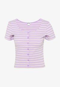 Monki - QUINNY TOP 2 PACK - Camiseta estampada - yellow medium dusty/white - 2
