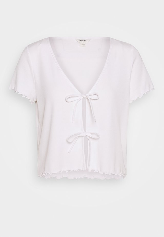 NILLAN - T-shirt med print - white