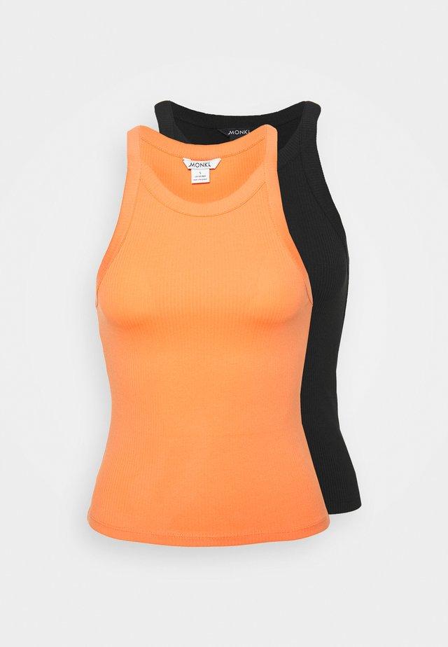EDDA SINGLET 2 PACK - Linne - orange/black dark solid