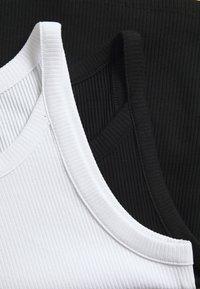 Monki - EDDA SINGLET 2 PACK - Top - black dark/white solid - 5