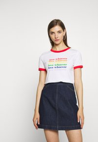 Monki - SARA TEE 2 PACK - T-shirt print - white light - 1