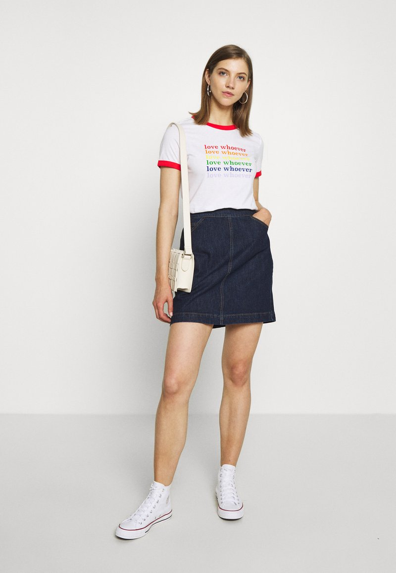 Monki - SARA TEE 2 PACK - T-shirt print - white light
