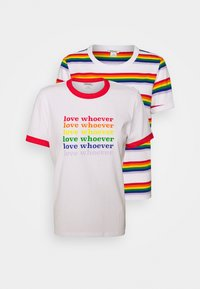 Monki - SARA TEE 2 PACK - T-shirt print - white light - 6