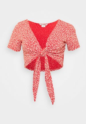 SINA - T-shirts med print - red