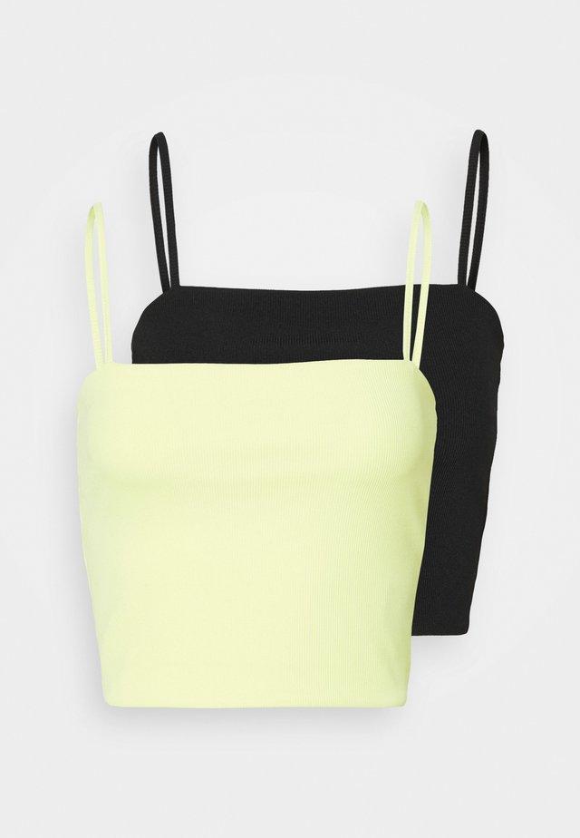 EILY SINGLET 2 PACK - Toppi - yellow/black