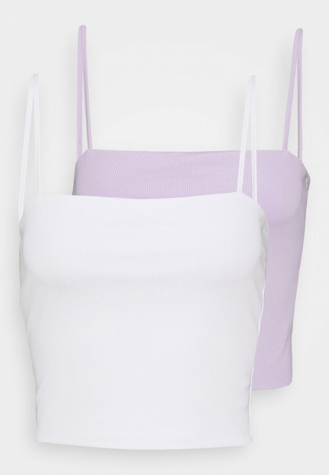 EILY SINGLET 2 PACK - Linne - lilac/white