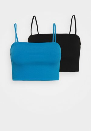 ALICE CROP SINGLET 2 PACK - Débardeur - blue bright/black