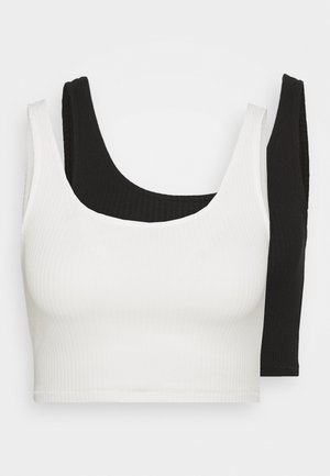 KEY 2 PACK - Top - white/black