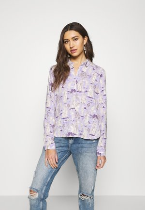 NADINA BLOUSE - Button-down blouse - white dusty light