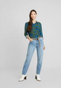 Monki - NADINA BLOUSE - Button-down blouse - blue - 1