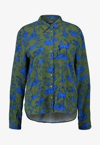 Monki - NADINA BLOUSE - Button-down blouse - blue - 4