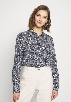 NADINA BLOUSE - Button-down blouse - blue