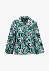 Monki - ANNELIE BLOUSE - Button-down blouse - green/black - 3