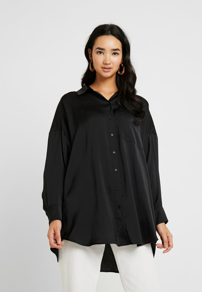 Monki - CATCHING BLOUSE - Skjortebluser - black dark