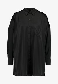 Monki - CATCHING BLOUSE - Button-down blouse - black dark - 4