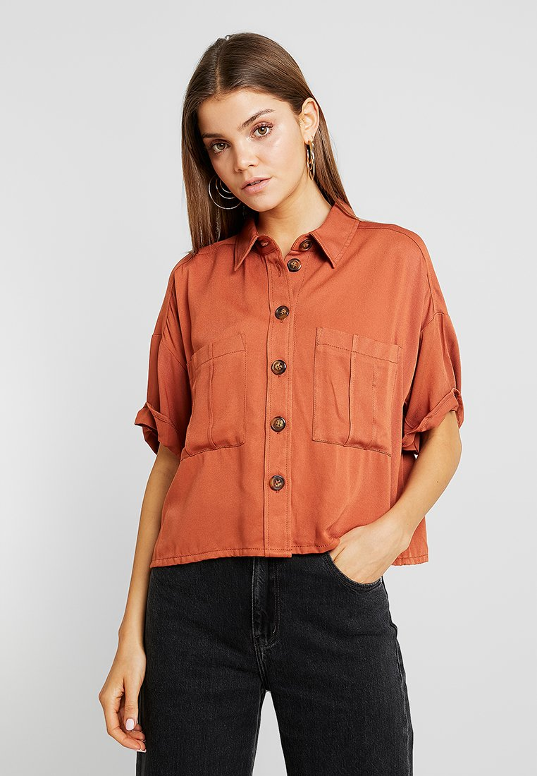 Monki - GERD BLOUSE UNIQUE - Camicia - brown