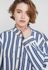 Monki - Button-down blouse - blue/white