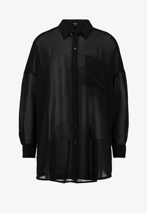 CATCHING BLOUSE UNIQUE - Button-down blouse - black