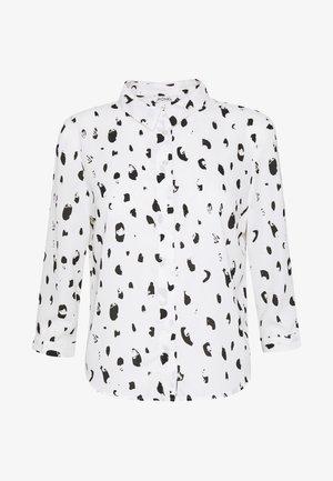 HELLA BLOUSE - Button-down blouse - white newspots