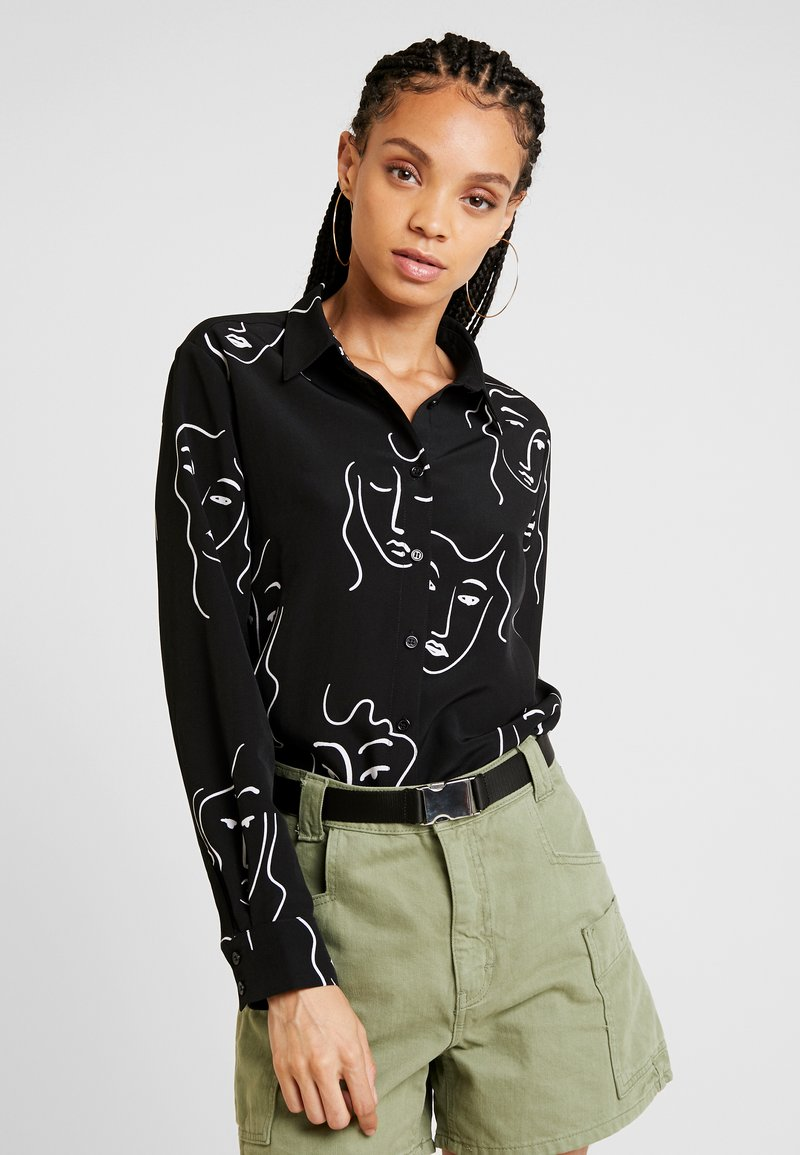 Monki - ASTRID BLOUSE - Paitapusero - black