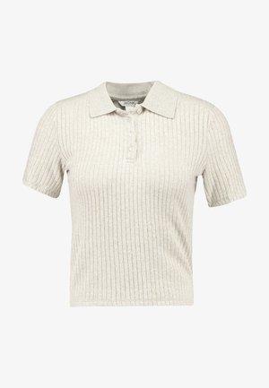 SIBBEN - Print T-shirt - oat melange