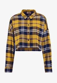 Monki - KELLY CROPPED - Overhemdblouse - yellow medium/navy/mustard - 3