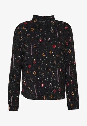 NADINA BLOUSE - Button-down blouse - black dark