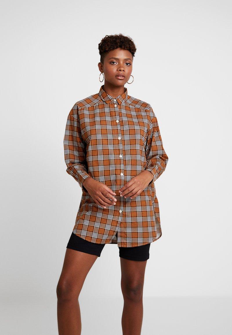 Monki - VERA - Button-down blouse - beige/caramel