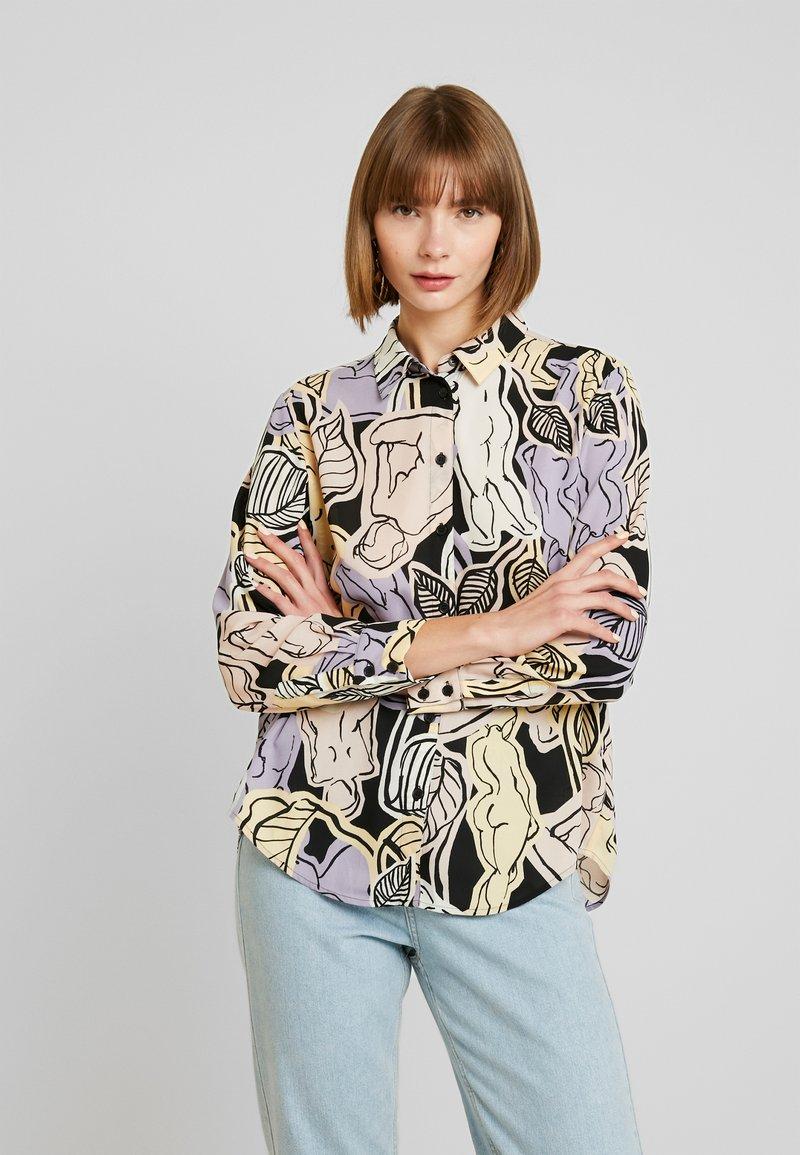 Monki - ASTRID BLOUSE - Button-down blouse - lilac