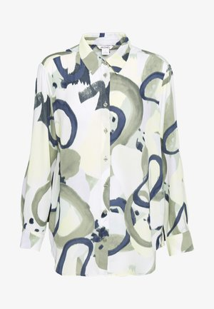 ASSA BLOUSE - Skjorte - khaki green/dusty light khakiart
