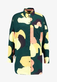 Monki - CATCHING PRINTED BLOUSE - Button-down blouse - dark green - 4