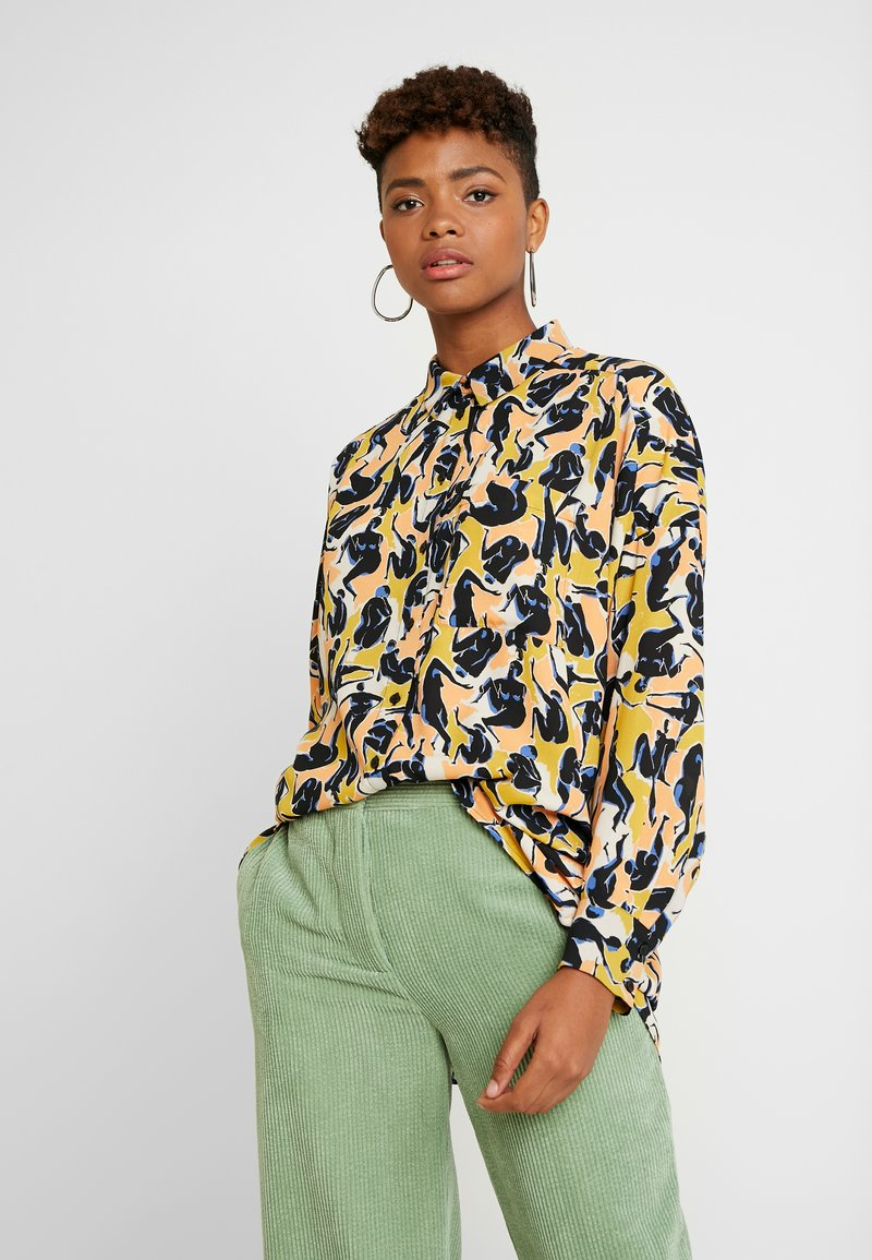 Monki - CATCHING PRINTED BLOUSE - Button-down blouse - multi coloured