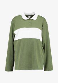 Monki - COMMON - Blouse - green/white stripe - 4
