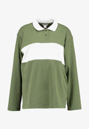 COMMON - Blouse - green/white stripe