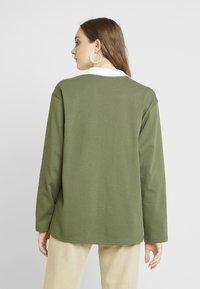 Monki - COMMON - Blouse - green/white stripe - 2
