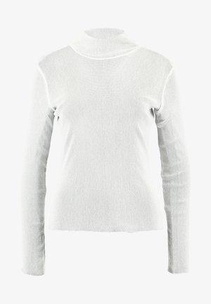 JAVA - Maglietta a manica lunga - white/silver