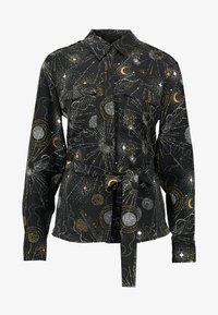 Monki - LOVA BLOUSE - Button-down blouse - black - 3