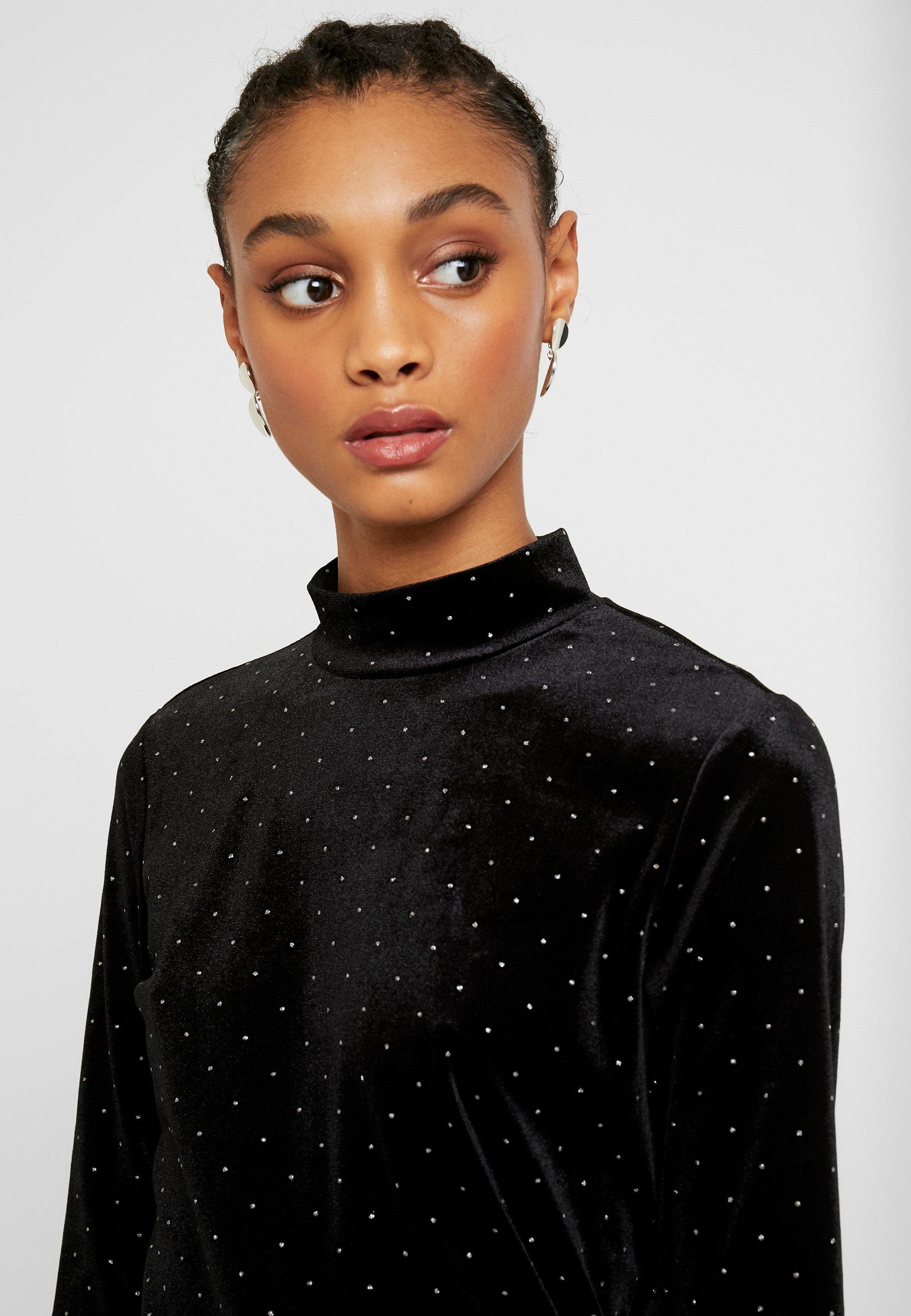 Monki Pira - Long Sleeved Top Black/silver