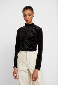 Monki - PIRA - Bluzka z długim rękawem - black/silver - 0