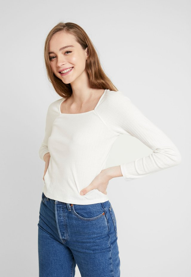 MALOU - Long sleeved top - white