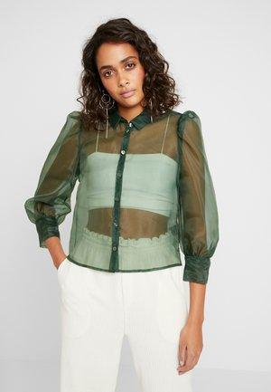 BLOUSE - Button-down blouse - green