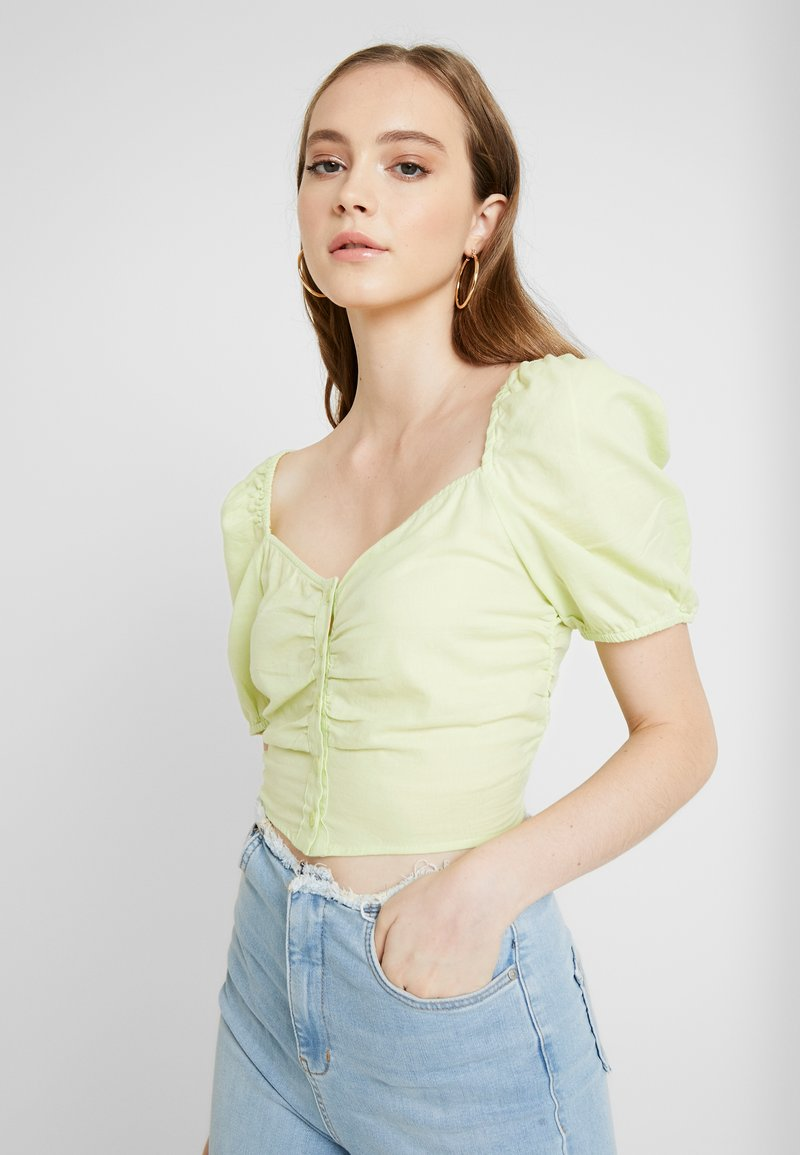Monki - NIC BLOUSE - Blusa - light green