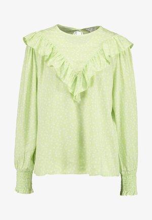 ZARAH BLOUSE - Bluzka - light green/white