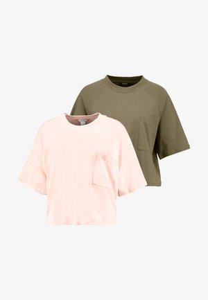 Fura 2 PACK - T-Shirt basic - khaki/pink