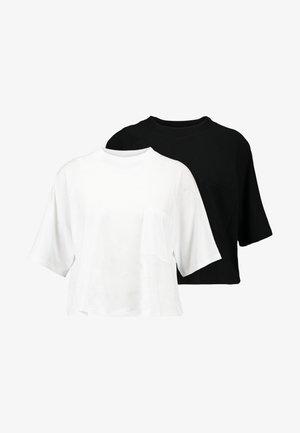 Fura 2 PACK - Jednoduché triko - black/white