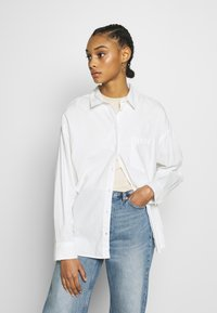 Monki - MEJA  - Button-down blouse - white - 0